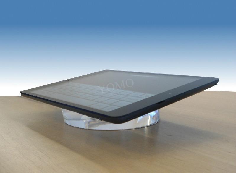 圆形手机展示架 平板电脑透明水晶亚克力防盗底座 3