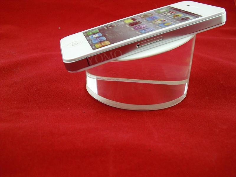圆形手机展示架 平板电脑透明水晶亚克力防盗底座 5