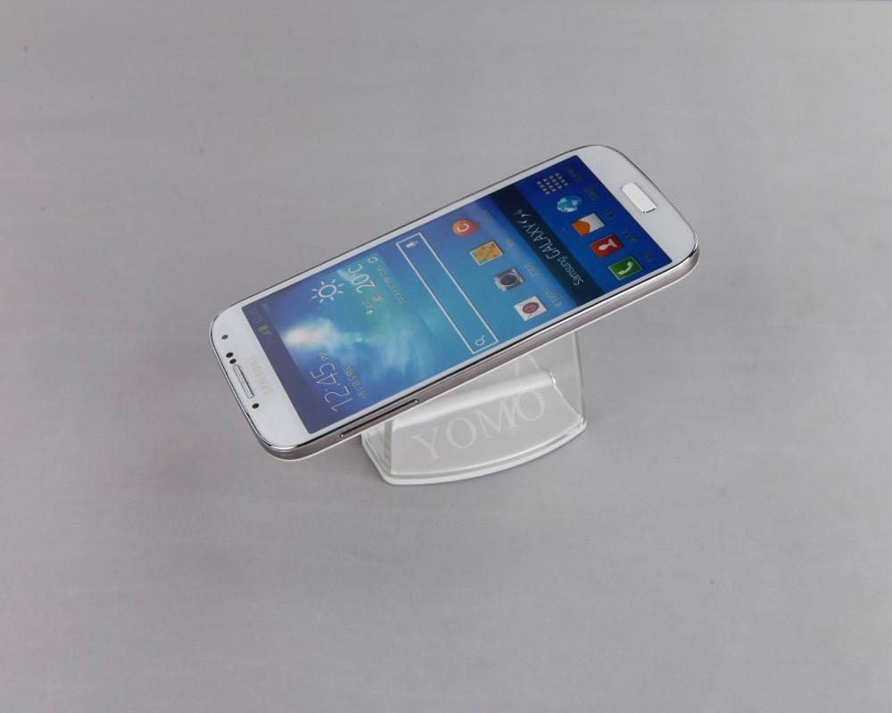 精品展示U型亞克力手機托架 透明手機托架 賣場手機防盜展示托架 5