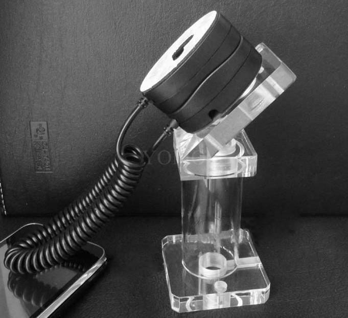 亚克力手机展示支架 透明水晶支架 手机模型展示架 手机防盗支架 5
