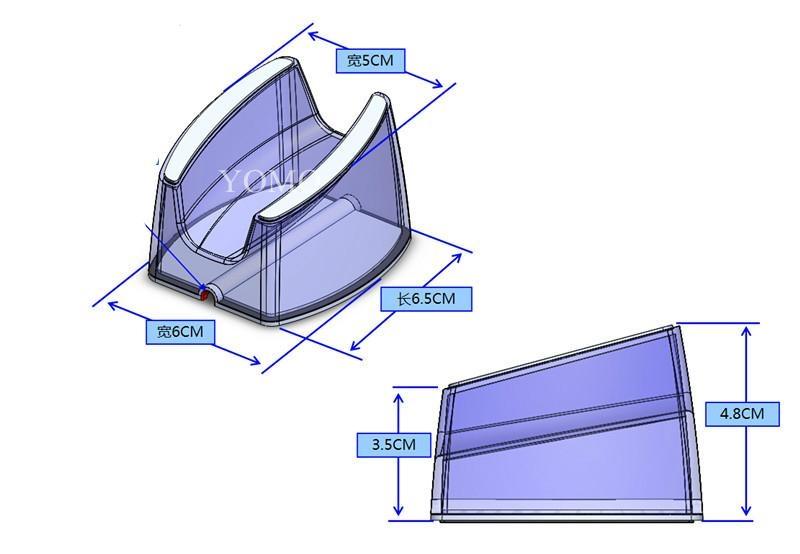 卖场手机亚克力展示支架 防盗器平板电脑U型底座体验机托 4