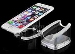 苹果华为手机托盘透明亚克力U型展架 机模防盗平板座三星手机支架