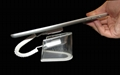 U型亞克力平板電腦防盜展示架 帶彈簧線粘貼鏈ipad展示支架展示座 3