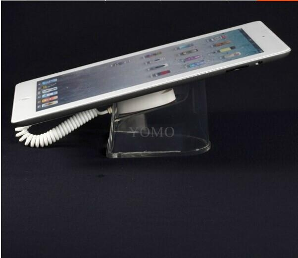 U型亚克力平板电脑防盗展示架 带弹簧线粘贴链ipad展示支架展示座 4