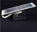 U型亞克力平板電腦防盜展示架 帶彈簧線粘貼鏈ipad展示支架展示座 4
