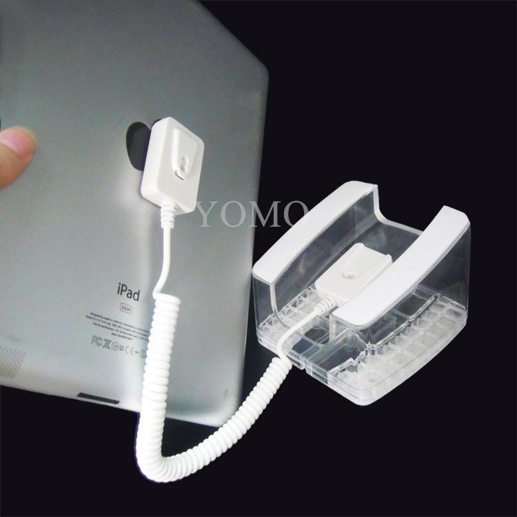 U型亞克力平板電腦防盜展示架 帶彈簧線粘貼鏈ipad展示支架展示座 5