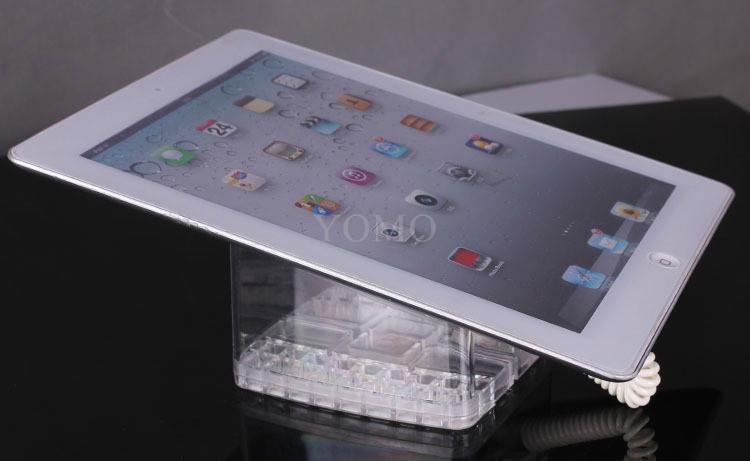 U型亞克力平板電腦防盜展示架 帶彈簧線粘貼鏈ipad展示支架展示座 7
