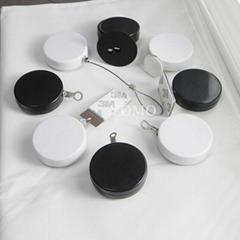 圓形防盜拉線盒 小件商品展示防盜線盒 迷你型自動伸縮拉線盒
