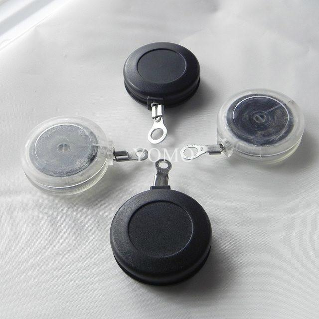 圆形防盗拉线盒 小件商品展示防盗线盒 迷你型自动伸缩拉线盒 3