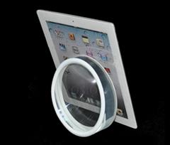 圆形实心平板展示架托盘 苹果体验店ipad体验展示架托
