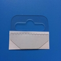 PVC Self Adhesive Tabs with Slot for Merchandising Onto Eurohooks