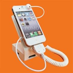 手机报警展示架托 充电功能三星 Iphone 手机防盗展示器