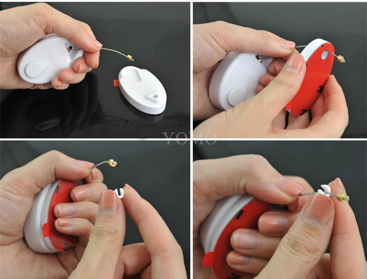手机防盗拉线盒 自动伸缩钢丝绳 接线盒 拉线器 展示拉线绳 手机防盗链 19