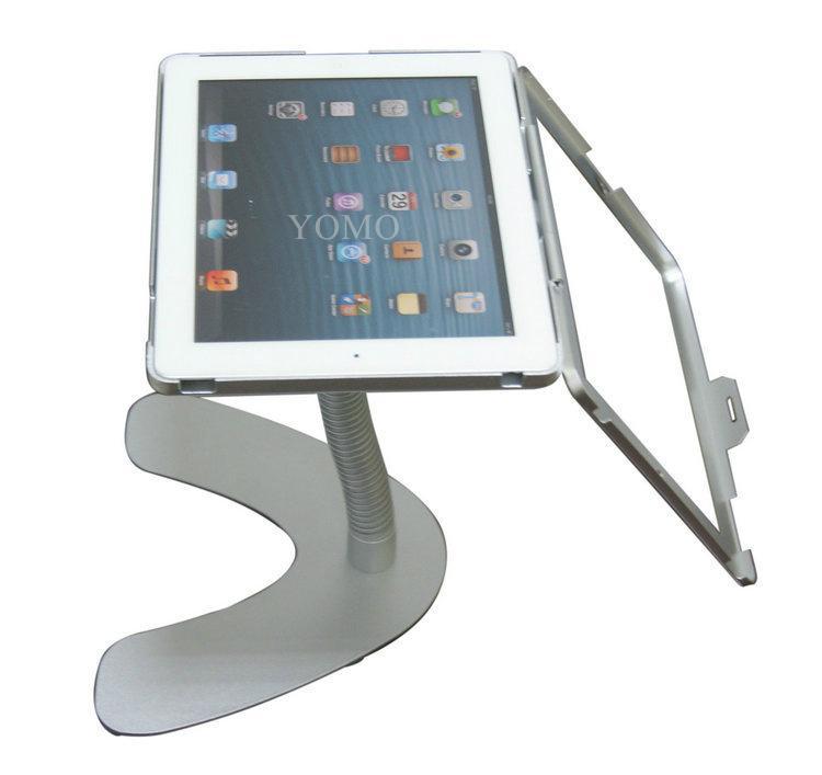 V shape base desktop bracket for Ipad ,Portable Desktop Tablet Kiosks 4