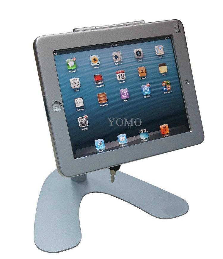 V shape base desktop bracket for Ipad ,Portable Desktop Tablet Kiosks 2
