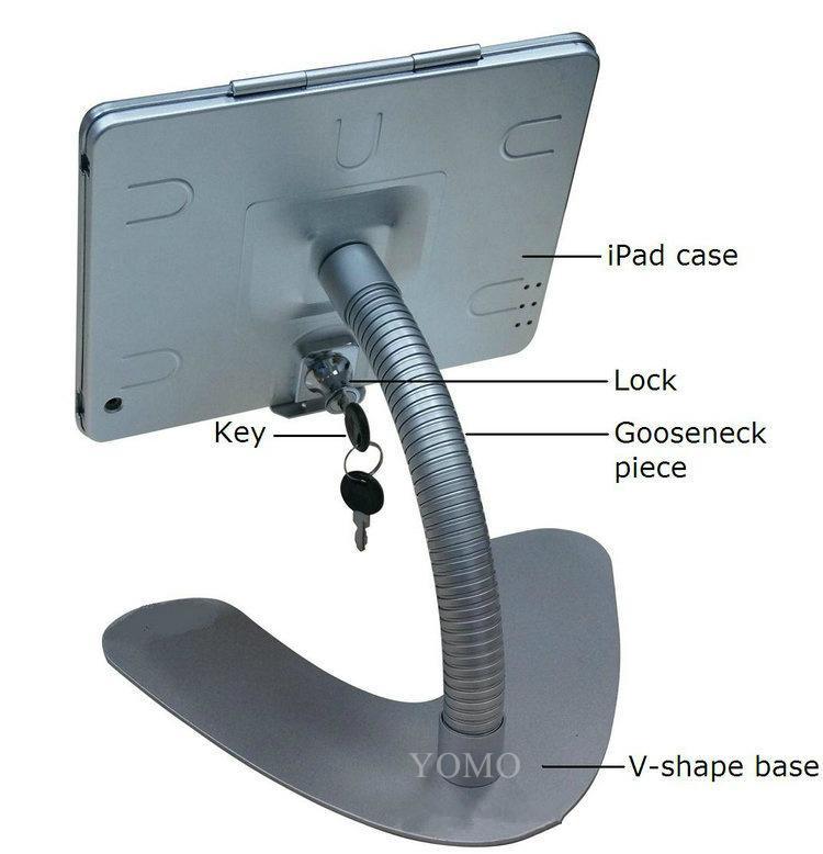 桌面V型展示平板支架 帶鎖防盜支架 床頭懶人平板支架 11