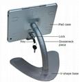 V shape base desktop bracket for Ipad ,Portable Desktop Tablet Kiosks