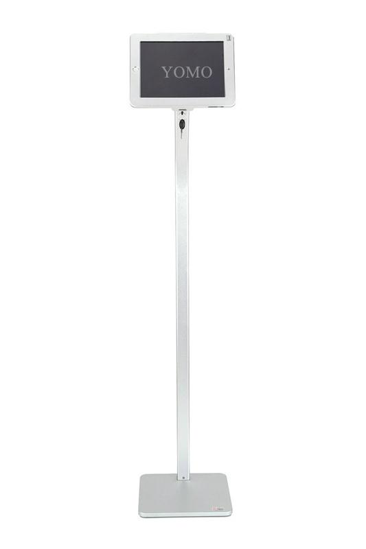 Workstation iPad Kiosk Stand Ipad Bracket Locking Clamshell for Trade Shows 6