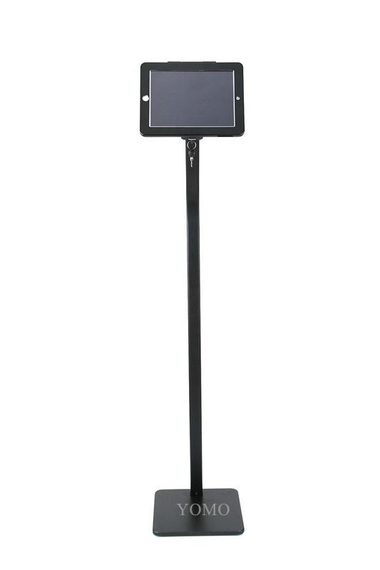 Workstation iPad Kiosk Stand Ipad Bracket Locking Clamshell for Trade Shows 9