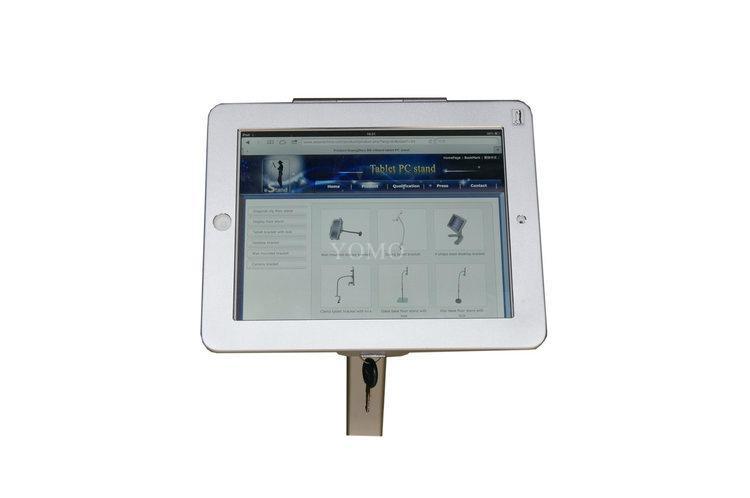 ipad平板落地支架 平板电脑展示支架 铝合金防盗支架 10