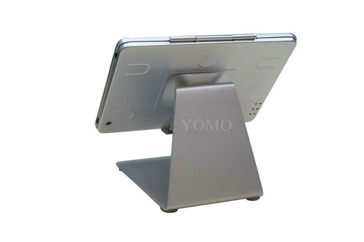 L shape base desktop bracket for Ipad ,Portable Desktop Tablet Kiosks 1