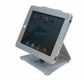 L shape base desktop bracket for Ipad ,Portable Desktop Tablet Kiosks 2