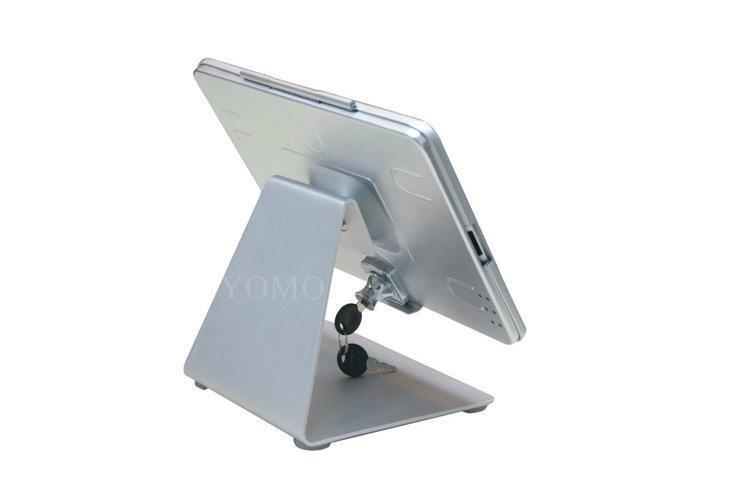 L shape base desktop bracket for Ipad ,Portable Desktop Tablet Kiosks 4