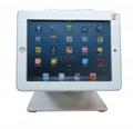 L shape base desktop bracket for Ipad ,Portable Desktop Tablet Kiosks 5