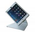 L shape base desktop bracket for Ipad ,Portable Desktop Tablet Kiosks 7