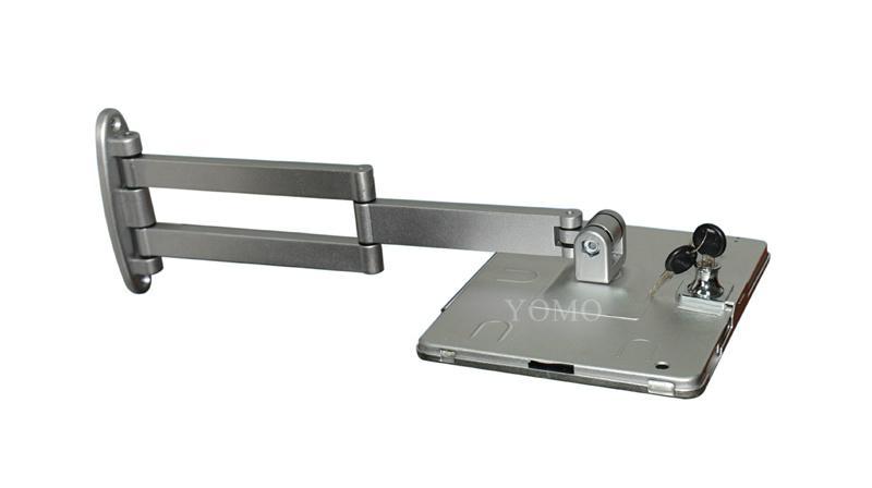 挂墙折叠伸缩IPAD支架 平板电脑防盗支架 带锁支架 5