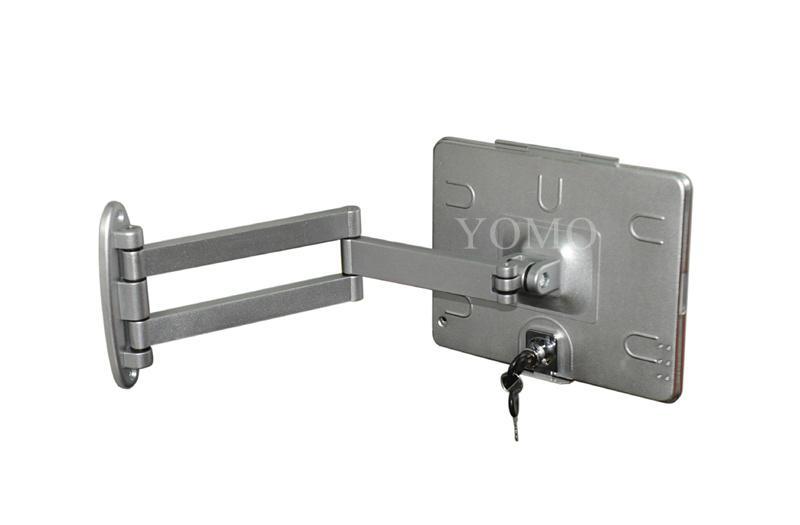 挂墙折叠伸缩IPAD支架 平板电脑防盗支架 带锁支架 4
