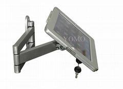 挂墙折叠伸缩IPAD支架 平板电脑防盗支架 带锁支架