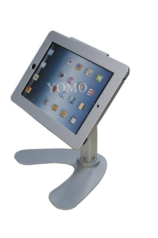 便携式苹果平板电脑桌面展示支架 带锁防盗支架 3