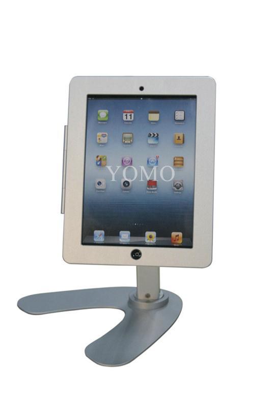 便攜式蘋果平板電腦桌面展示支架 帶鎖防盜支架 4