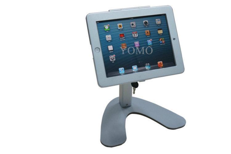 便攜式蘋果平板電腦桌面展示支架 帶鎖防盜支架 14