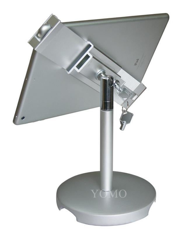 桌面防盜平板電腦支架 平板電腦展示支架 帶鎖對角夾支架 4
