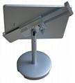 桌面防盜平板電腦支架 平板電腦展示支架 帶鎖對角夾支架 5