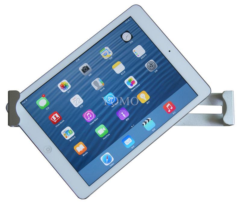桌面防盜平板電腦支架 平板電腦展示支架 帶鎖對角夾支架 6