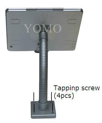 粗软管挂墙ipad支架 带锁防盗展示支架 点餐支架批发 2
