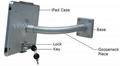 粗软管挂墙ipad支架 带锁防盗展示支架 点餐支架批发 3