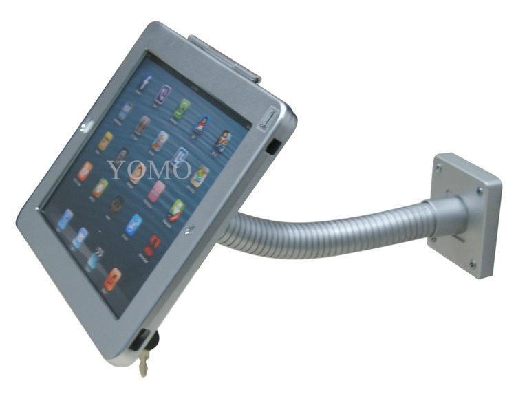 粗软管挂墙ipad支架 带锁防盗展示支架 点餐支架批发 4