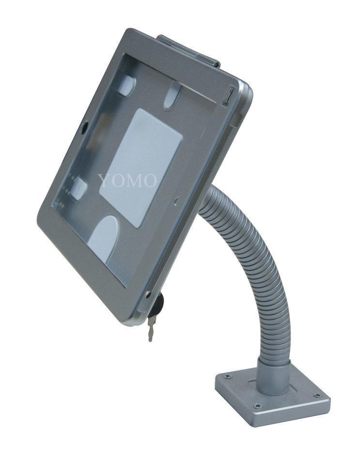 粗软管挂墙ipad支架 带锁防盗展示支架 点餐支架批发 6