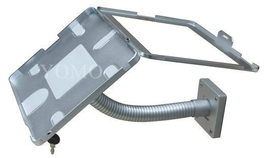粗軟管挂牆ipad支架 帶鎖防盜展示支架 點餐支架批發 8