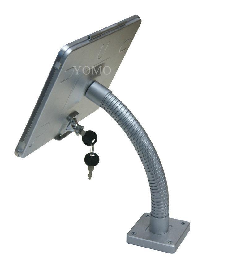 粗软管挂墙ipad支架 带锁防盗展示支架 点餐支架批发 10