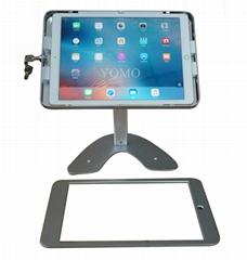 桌面帶鎖平板 鋁合金防盜展示平板 12.9寸iPad proV型底桌面支架