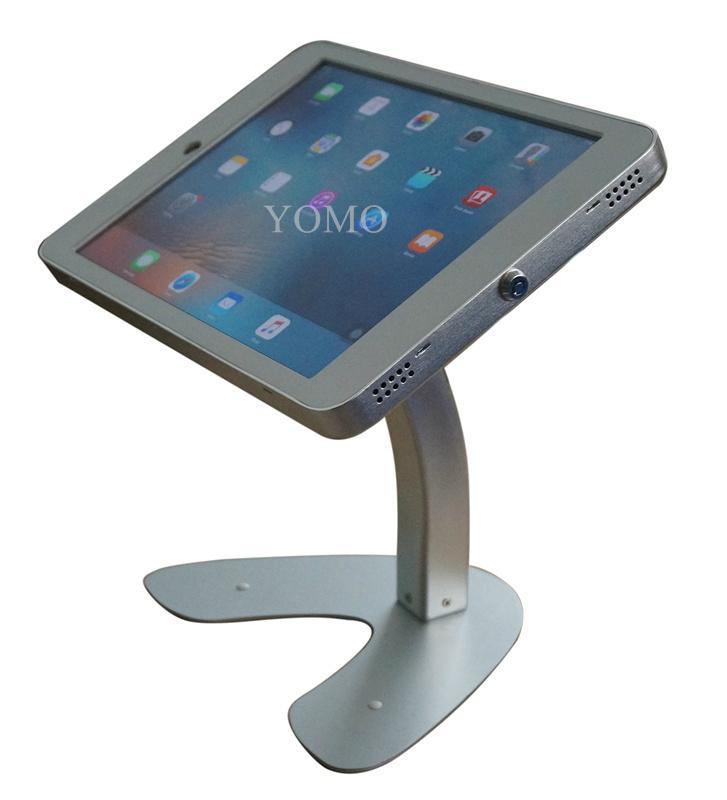 桌面带锁平板 铝合金防盗展示平板 12.9寸iPad proV型底桌面支架 8