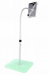 Adjustable iPad Floor Stand Ipad Bracket Locking Clamshell for Trade Shows