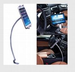 汽车副驾驶滑轨 通用平板电脑支架 带锁防盗支架