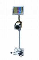 平板iPad落地支架 醫院餐館排隊叫號 打印機托盤