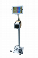 Workstation iPad Kiosk Stand Ipad Bracket Locking Clamshell for Hotel Restaurant